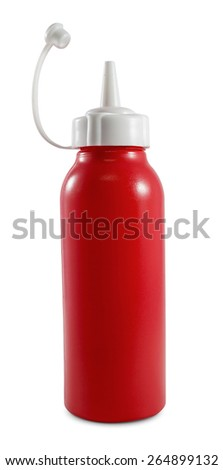 Ketchup bottle  - stock photo