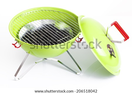 kettle barbecue grill isolated  - stock photo
