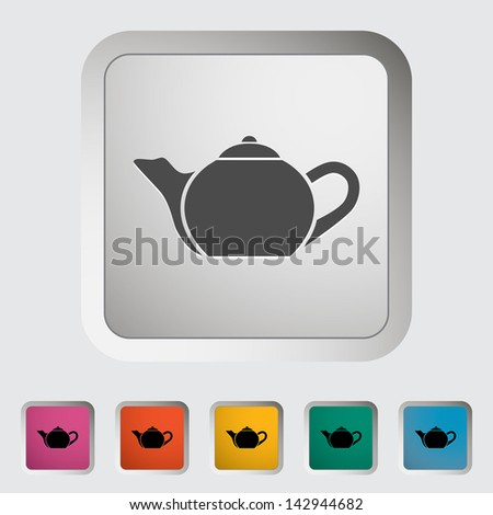 Kettle. Single icon. Vector version also available in my portfolio. - stock photo