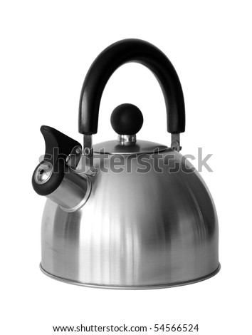 Kettle with whistle on a white background.