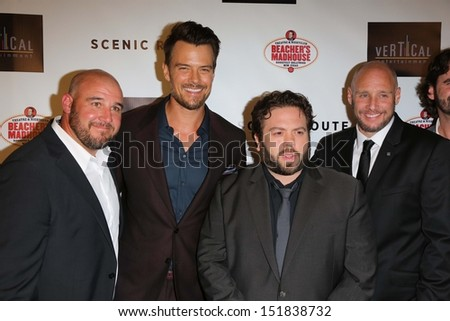 "Kevin Goetz and Michael Goetz with Dan Folger and Josh Duhamel at the ""Scenic Route"" Los Angeles Premiere, Chinese 6, Hollywood, CA 08-20-13"