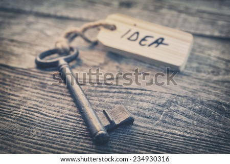 Key and label. Idea concept - stock photo