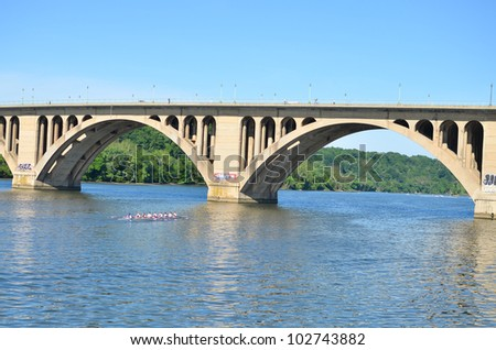 Key Bridge - Washington DC - stock photo