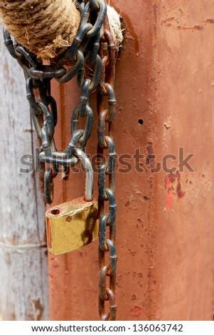 Key chain. - stock photo