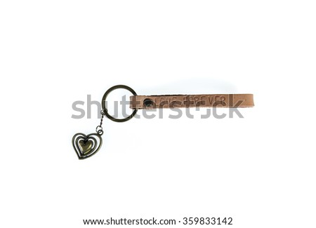 Key chain isolated on white