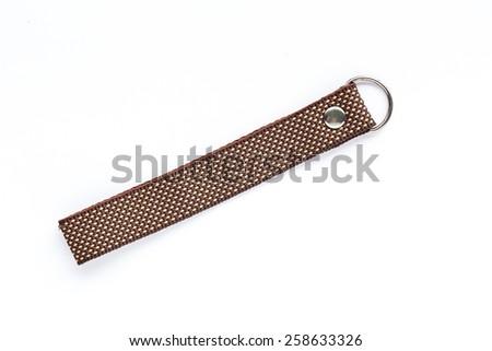 key chain isolated on white background - stock photo