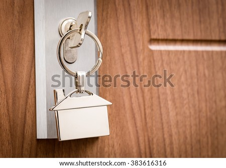 Key Door Real Estate Rent Home House Broker Buy - Stock Image