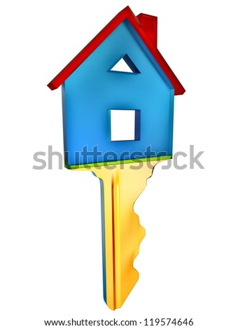 key for a new home as a symbol of purchases and investments - stock photo