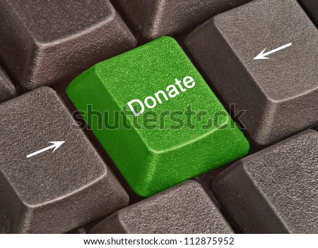 Key for donations - stock photo