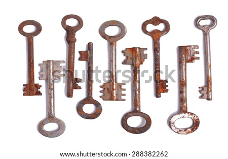 key group  old rust - stock photo