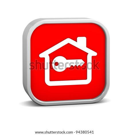 Key House Sign on a white background. Part of a series.