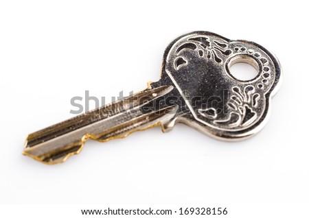 key isolated white background - stock photo