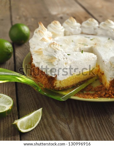 Key lime pie - stock photo