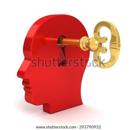 key on head - stock photo
