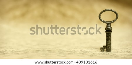 Key - success and solution concept website banner - stock photo