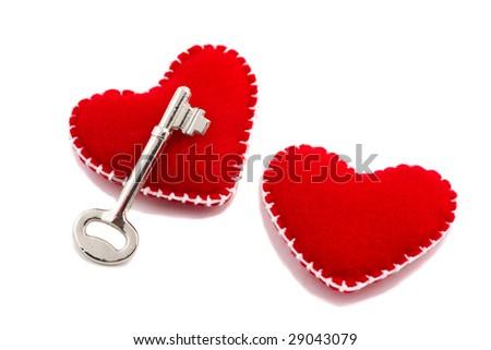 Key to Love, Heart - stock photo