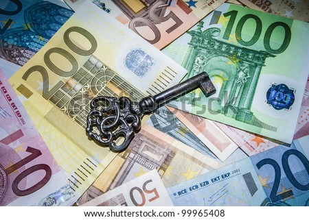 Key to success on different euro banknotes