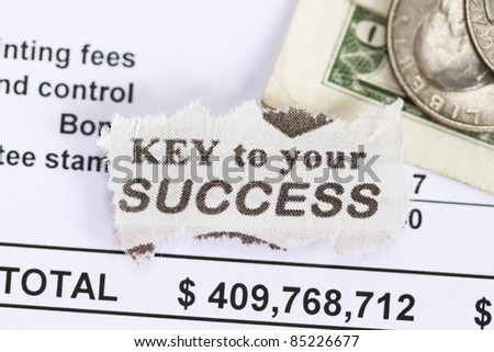 key to your success abstract - with spreadsheets.