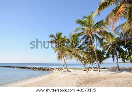 Key West Beach in Florida Keys, USA - stock photo