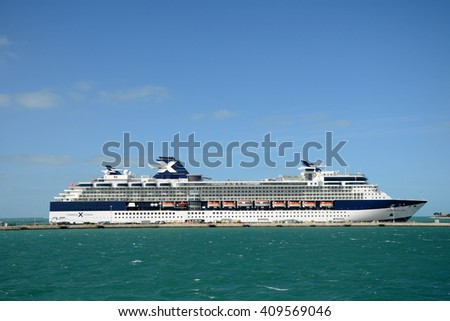 KEY WEST, FL, USA - DEC 20: Celebrity Constellation docked on December 20th, 2012 in Key West, Florida, USA.  - stock photo
