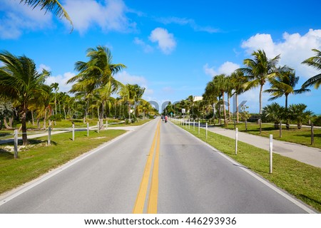 Key west florida beach Clearence S Higgs memorial in USA - stock photo