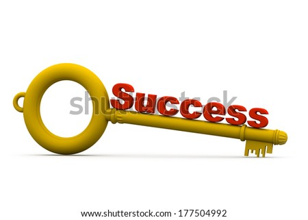 Key with success - stock photo