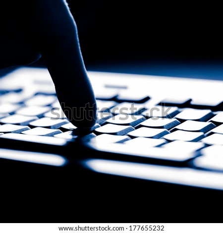 Keyboard closeup view - stock photo