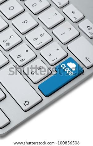 keyboard cloud choise - stock photo