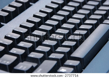 Keyboard computer with shallow focus