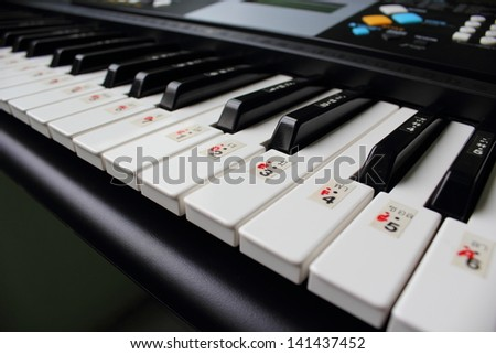 Keyboard for disciplining students. - stock photo