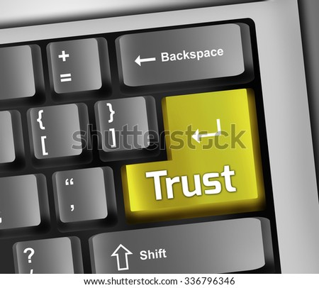 Keyboard Illustration with Trust wording