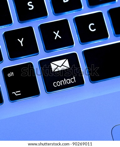 keyboard layout with contact / mail key / button {super high resolution/shot with PhaseOne P45}