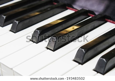 Keyboard of a concert piano - stock photo