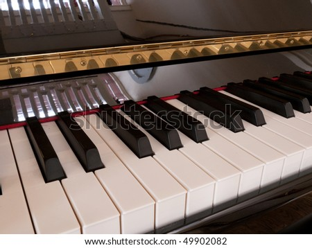 Keyboard piano - stock photo