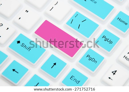 Keyboard with blank Enter button. Copy space
