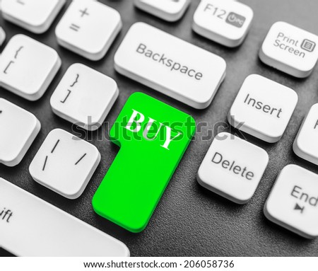 Keyboard with Buy button. Concept image. - stock photo