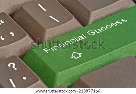 Keyboard with hot key for financial success