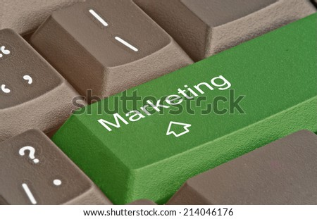 Keyboard with hot key for marketing