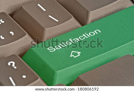 Keyboard with hot key for satisfaction