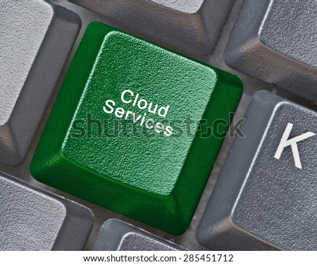 keyboard with key for cloud service