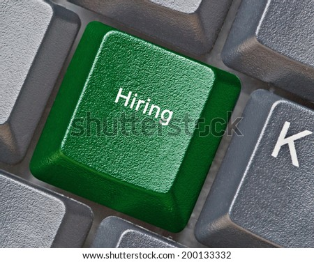Keyboard with key for hiring