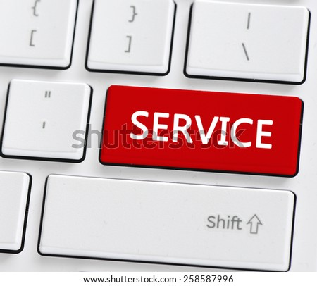 Keyboard with service button. Computer keyboard with service button - stock photo