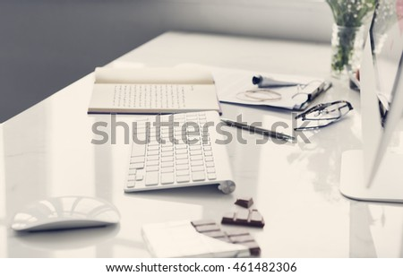 Keyboard Working Place Office Chocolate Concept