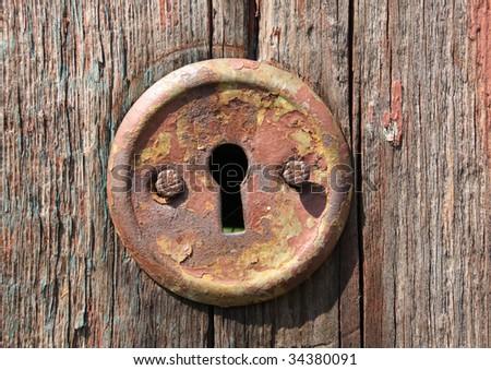 keyhole of old wooden door & Keyhole Old Door Stock Photo 15374356 - Shutterstock pezcame.com