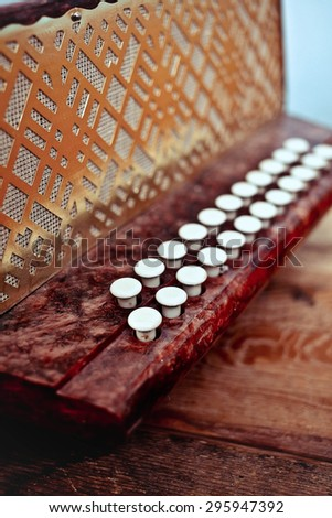 Keys accordion - stock photo
