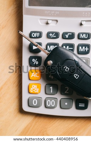 Keys from the car on money. used for background or material  design. - stock photo