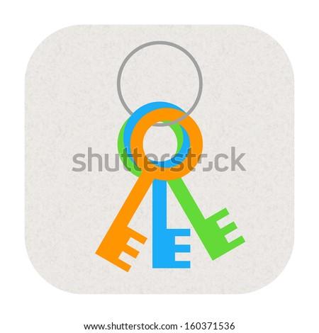 Keys icon - stock photo