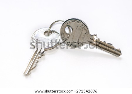 keys isolated on white background  - stock photo