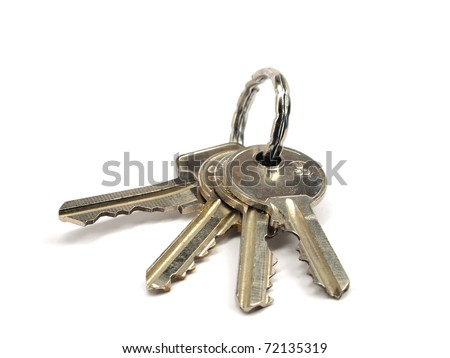 keys on a white background - stock photo