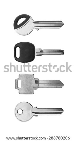 keys on white background - stock photo